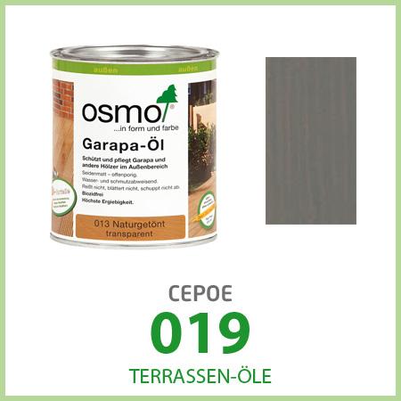 Масла для террас Terrassen-Öle, серое 019