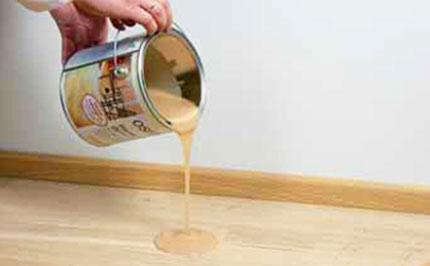 Нанесение ОСМО-масла с твердым воском на деревянные полы